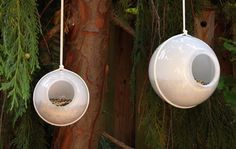 Great way to reuse those fan light globes that are hidden in one of your closets from when you took them down.