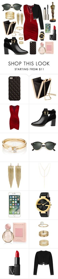 """""""Untitled #110"""" by kawaiipotato0 ❤ liked on Polyvore featuring 2Me Style, H&M, Boohoo, Ted Baker, Loren Stewart, Ray-Ban, Kenneth Jay Lane, South Moon Under, Gucci and Bulgari"""