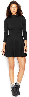 80% off Free People Flirt N Flare Stand-Collar Keyhole-Back Structured-Knit Dress (ORIG: $128, on sale for $29.99 + extra 15% off with code VETS)