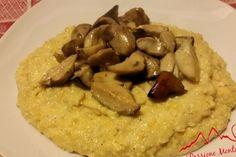 Polenta al Gorgonzola e Funghi Porcini - La Polenta al Gorgonzola con Funghi Porcini è un delizioso piatto ideale nelle fredde giornate invernali
