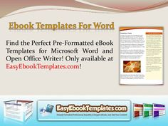 Our Microsoft Word ebook template will certainly improve the feel and look of your ebook. we provide easy editable eBook template that you will be able to use to generate your own amazing looking eBooks in either Microsoft Word. Word ebook template that will certainly transform your content in to a skillfully created masterpiece.