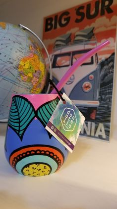 Mate Pintado a Mano Painted Pots, Eco Friendly, Favors, Packaging, Craft Ideas, Pretty, Crafts, Diy, Painting