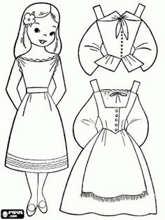 Cute paper dolls for boys and girls! - Can color online or print it in B&W! - Also other free coloring pages