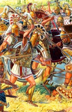 Batalla de Ampheia (738 a.C.) durante la Primera Guerra Mesenia, cortesía de Igor Dzis