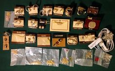 GOLD FILLED SILVER TONE MIXED JEWELRY LOT OF 29 VINTAGE NEW EARRINGS NECKLACE NR