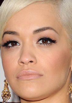 Close-up of Rita Ora at the 2015 Oscars. http://beautyeditor.ca/2015/02/23/oscars-2015