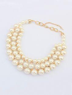Pearl Jewelry, Diy Jewelry, Beaded Jewelry, Jewelery, Jewelry Necklaces, Handmade Jewelry, Jewelry Design, Beaded Bracelets, Short Necklace