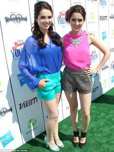 Brights: Vanessa Marano, left, and Laura Marano, right, opted to wear vibrant shades