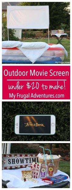 How to Build An Outdoor Movie Screen- so simple and about $20 to make!  Sponsored by HORMEL® Pepperoni #PEPItUp #ad