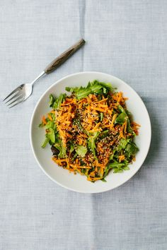 Ginger Carrot Salad with Quinoa | http://naturallyella.com