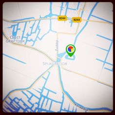 De pointer van Fort bij Spijkerboor in de app 'Stampions op de Stelling': groen = nu open! #Stampions #GooglePlay #AppStore #StellingvanAmsterdam #Westbeemster #FortbijSpijkerboor