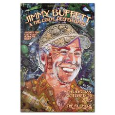 Click to shop through our House of Blues Art like this limited edition Jimmy Buffett print. | Artwork by Jason Mecier