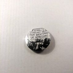 Hand punched pin is 1.25 inches in diameter Great addition to your jacket, backpack, bag, hat or button collection Custom buttons available