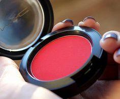 Alysha DeMarsh's Decalz: bright red mac blush | Lockerz