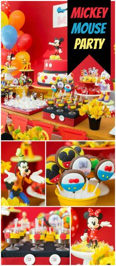 Such an incredible classic Mickey Mouse birthday party! See more party ideas at CatchMyParty.com!