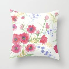 Late Summer Reds Throw Pillow