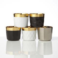 """Sip of Gold Goblets, Siegler by Fürstenberg   [""""Vermitteln die Gewissheit, nicht nur etwas ganz Besonderes zu trinken, sondern auch etwas sehr Außergewöhnliches in Händen zu halten""""]"""