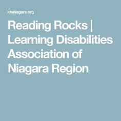 Reading Rocks | Learning Disabilities Association of Niagara Region