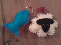 Fish and sheep keyrings for messy church session on parables