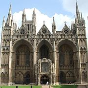 Peterborough Cathedral. The Queen Catherine of Aragon is buried in the north presbytery aisle.