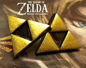 Triforce Post Earrings - Legend of Zelda - Nintendo - A Portion of the Proceeds Go To Charity