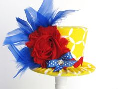 Mini Top Hat Headband, Alice in Wonderland themed Tea Party, Birthday, Costume, Photo Prop, Gift from Truly Sweet Circus on Etsy, $22.95