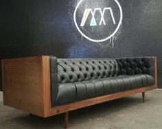 Mid Century Modern Tufted Milo Baughman Style by TDFurniture
