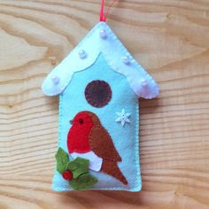 RP. Felt Robin and Bird House PDF Sewing Pattern and Tutorial, Instant Download, Easy Step-by-Step Instructions by SewJuneJones on Etsy