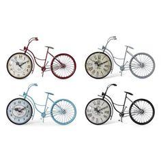 Bicycle Clock, Wooden Bicycle, Bike Poster, Tabletop Clocks, Kids Bike, Desk Clock, Bike Art, Vintage Bicycles, Novelty Gifts