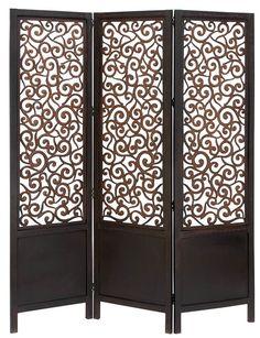 """72"""" H 60"""" W Wooden 3 Panel Room Divider"""