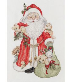 Bucilla Heirloom Collection Santa Counted Cross Stitch Kit at Joann.com
