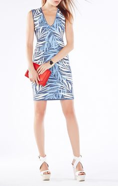 Gari Palms Knit Jacquard Dress