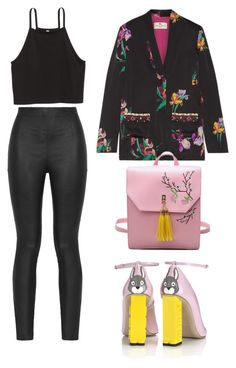 """"""".."""" by lolaalmalki ❤ liked on Polyvore featuring H&M, Armani Jeans, Etro and Camilla Elphick"""