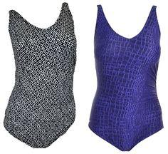 Speedo Womens 1 Piece Swimsuit 6 8 14 Bathing Suit Squared Shirred Geometric NEW #Speedo #OnePiece