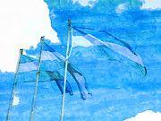 """New artwork for sale! - """" Flag Argentina National Flag Mast  by PixBreak Art """" - http://ift.tt/2lTMZdC"""