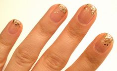 Graduated Glitter Nail How-To