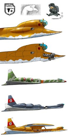 Heinkel HE-335 Gans by ~torokun on deviantART