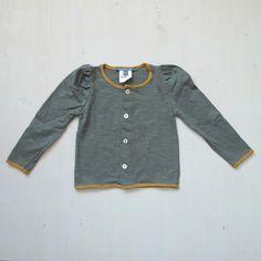 ss13   minimù chic for kids – italian children clothing - Grey and mustard cardigan