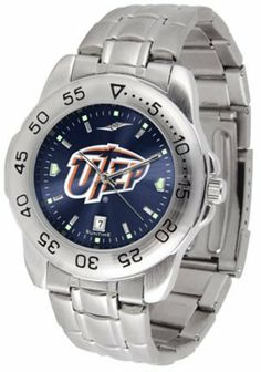UTEP Texas (El Paso) Miners Sport Steel Band Ano-Chrome Men's Watch by SunTime. $63.64. Scratch Resistant Face. Rotation Bezel/Timer. Calendar Date Function. This handsome, eye-catching watch comes with a stainless steel link bracelet. A date calendar function plus a rotating bezel/timer circles the scratch resistant crystal. Sport the bold, colorful, high quality NCAA UTEP Texas (El Paso) Miners logo with pride.¶¶The AnoChrome dial option increases the visual impac...