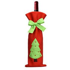3 PZAS Papá Noel Navidad Botella De Vino Bolsas Fundas Cena Fiesta Mesa Navidad