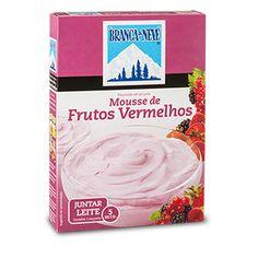 Mousse sabor a Frutos Vermelhos Branca de Neve