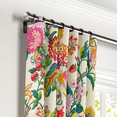 Loom Decor Convertible Drapery Vased It - Honeysuckle Bold Curtains, Dining Room Curtains, Printed Curtains, Curtains With Rings, Colorful Curtains, Panel Curtains, Tropical Curtains, Office Curtains, Curtain Patterns