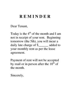 Late Notice Landlord to Tenant - Hashdoc - letter to tenant to pay ...