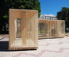 Image 12 of 28 from gallery of Cadiz Temporary Pavilion / Breathnach Donnellan with EASA Participants. Courtesy of avanzada workshop team Timber Architecture, Pavilion Architecture, Contemporary Architecture, Architecture Design, Casa Farnsworth, Casa Patio, Temporary Structures, Garden Pavilion, Landscape Structure
