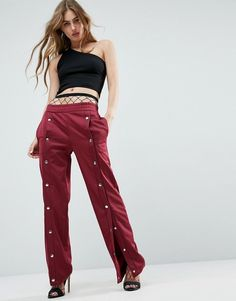 ASOS Track Pant with Popper Front Detail. ASOS Track Pant with Popper Front Detail $48