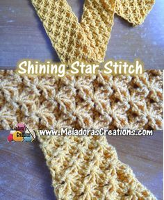 Shining Star Stitch - free crochet tutorial with Left & Right handed videos from Meladora's Crochet.