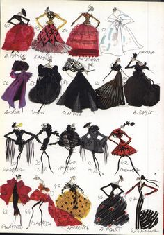 Christian Lacroix, Images of models of the first collection haute couture 1987-1988
