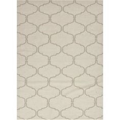 Check out the Jaipur RUG10418 Maroc Flat-Weave Moroccan Pattern Wool Ivory/Taupe Area Rug