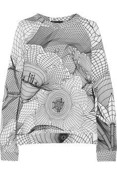 Christopher Kane|Sweat en jersey de coton imprimé|NET-A-PORTER.COM