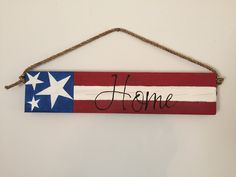 Just in time for the 4th of July! Hang this sign on your porch to welcome the summer!